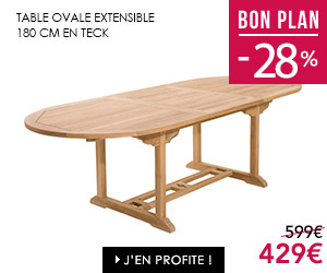 Bon plan table de jardin