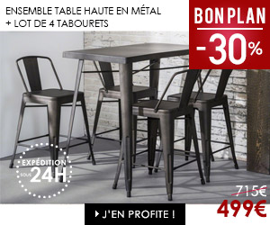 Bon plan table de bar