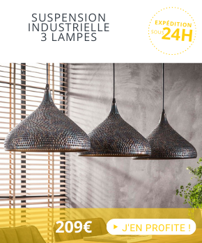 En ce moment : suspension 3 lampes