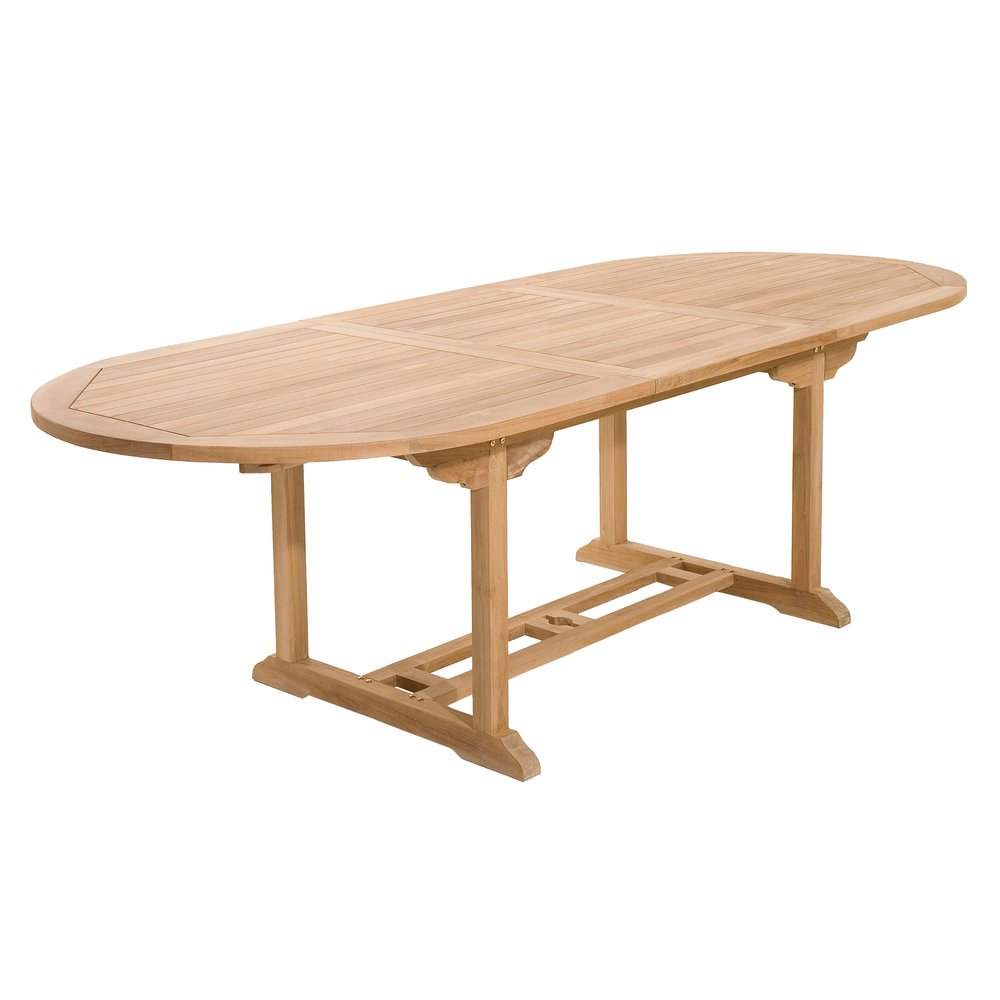 Meuble de jardin - Table ovale extensible 180/240 cm en teck - GARDENA photo 1
