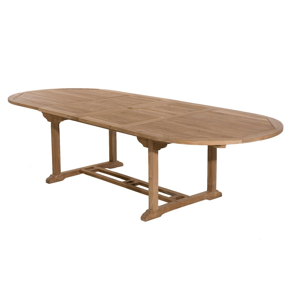 Meuble de jardin - Table ovale avec allonge 200/300 cm en teck - GARDENA photo 1