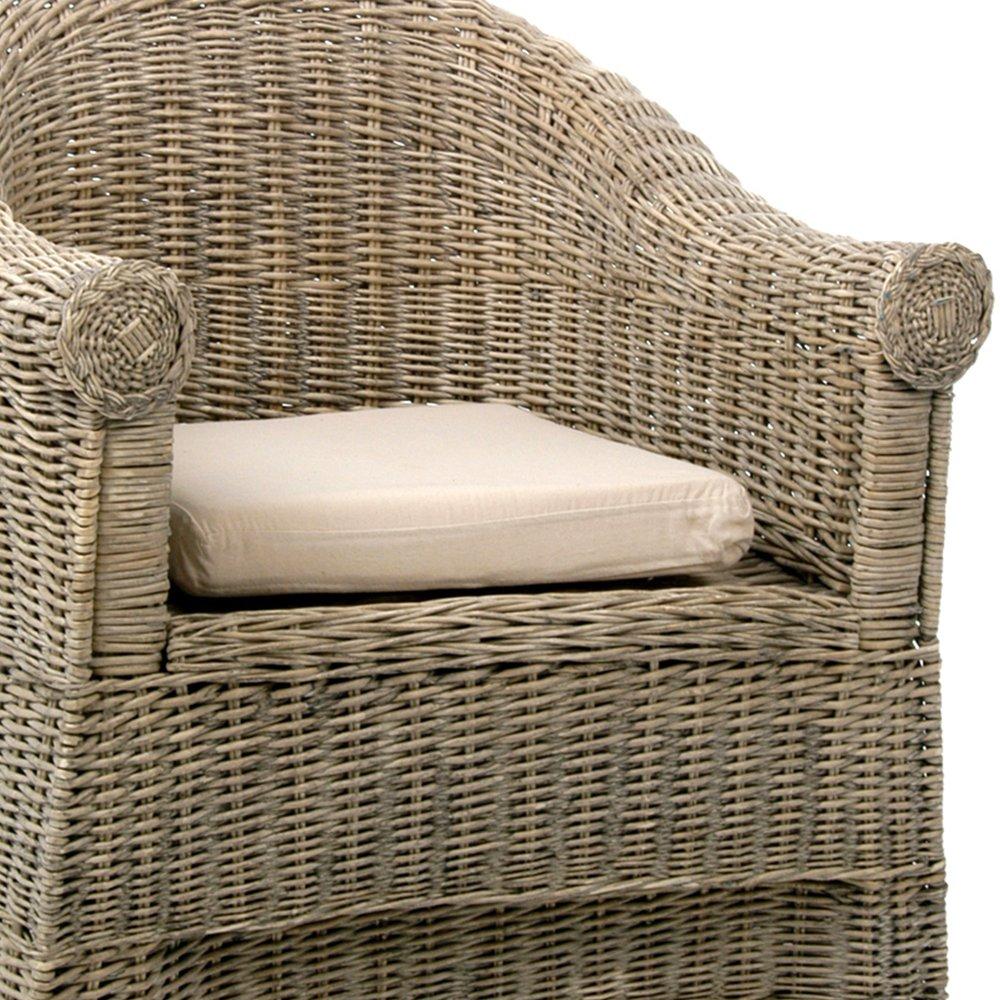 Cache Pied De Sapin Rotin fauteuil dossier arrondi en rotin avec coussin | maison et