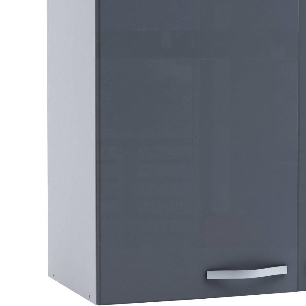 Meuble haut de cuisine 2 portes 100cm - coloris gris ...