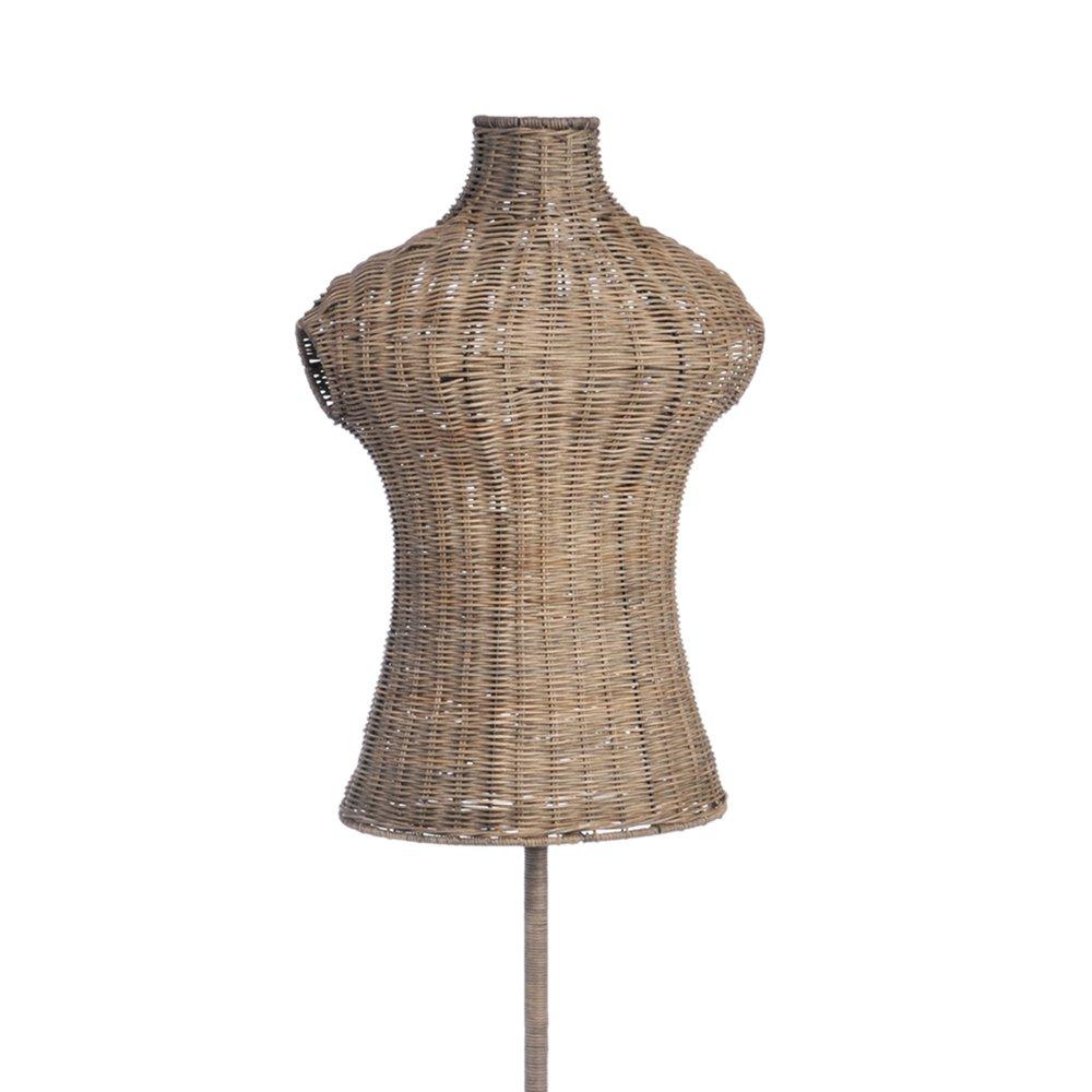 Buste Sur Pied Decoratif buste en osier tressé sur pied 151cm | maison et styles