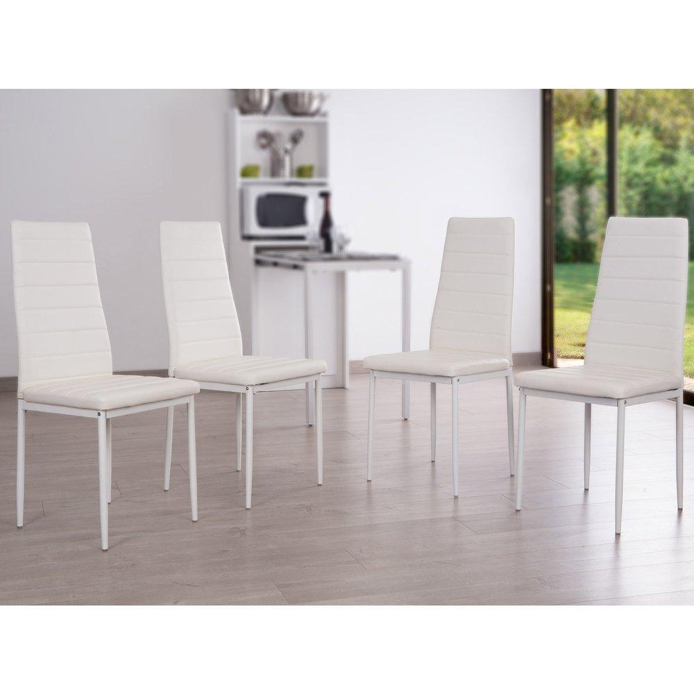 4 de chaises forme BlancMaison de mémoire Lot à SENORA 7gYf6by