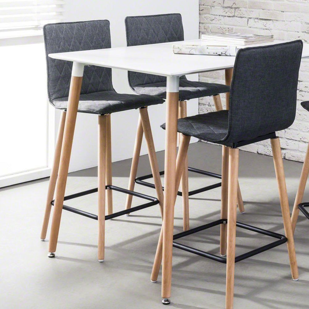 Table Haute 4 Personnes.Table Haute A Manger 4 Personnes Blanc Maison Et Styles