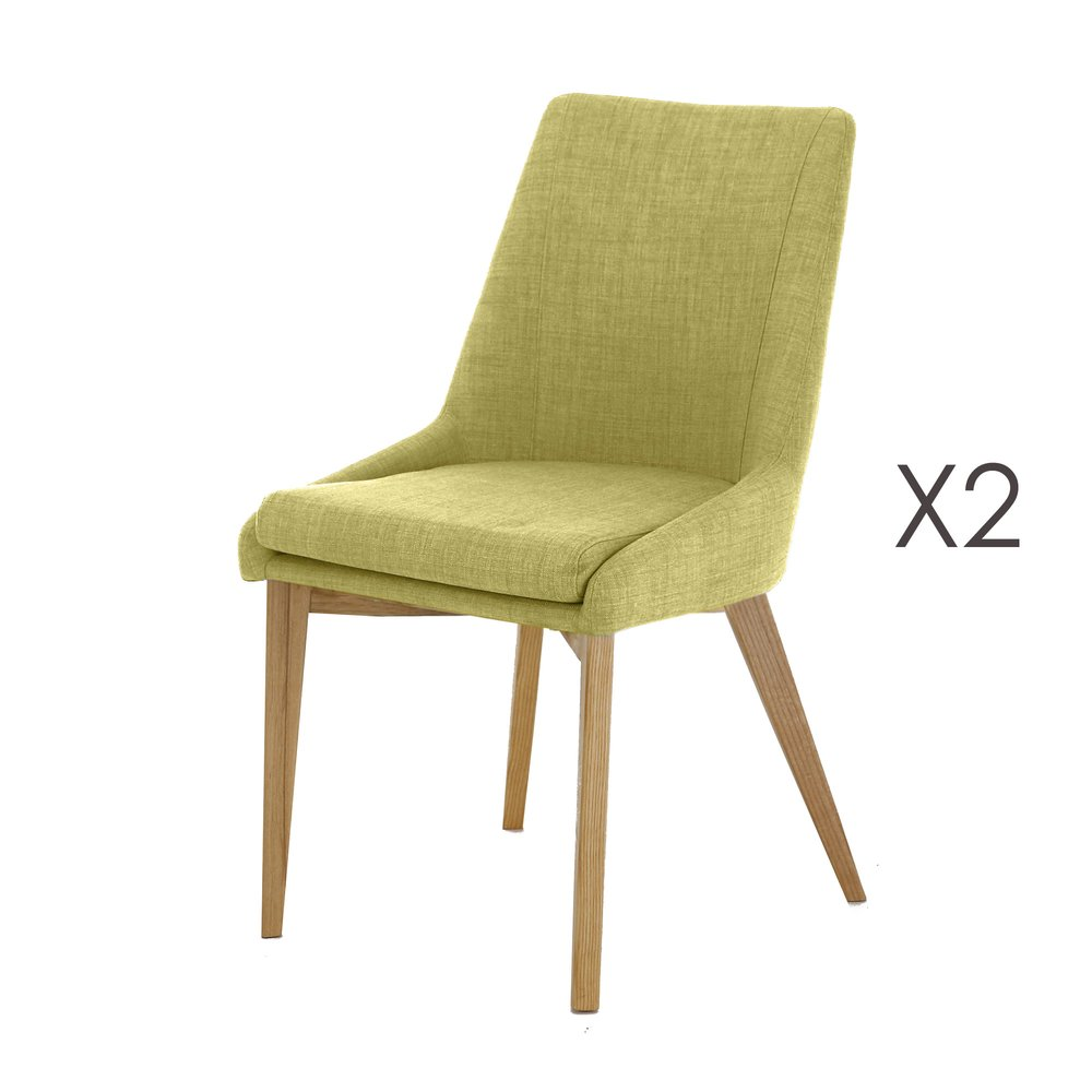 Chaise - Lot de 2 Chaises vert anis - OLET photo 1