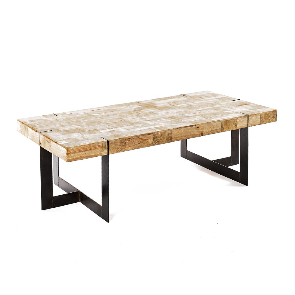 Table basse - Table basse 120X60XH40CM bois et métal - CIUDAD photo 1