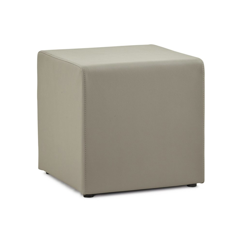 Pouf - Pouf cube en simili cuir gris - RABIK photo 1