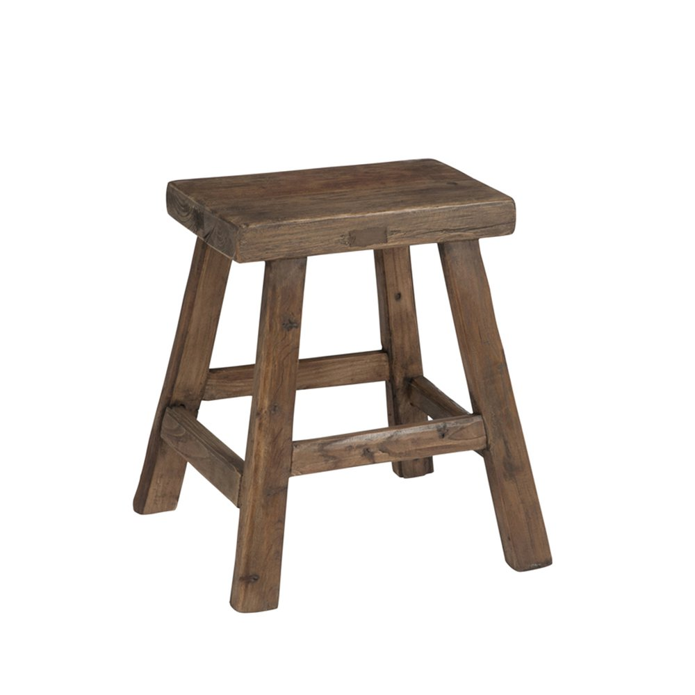 Tabouret - Tabouret 40x25x45cm en bois marron photo 1