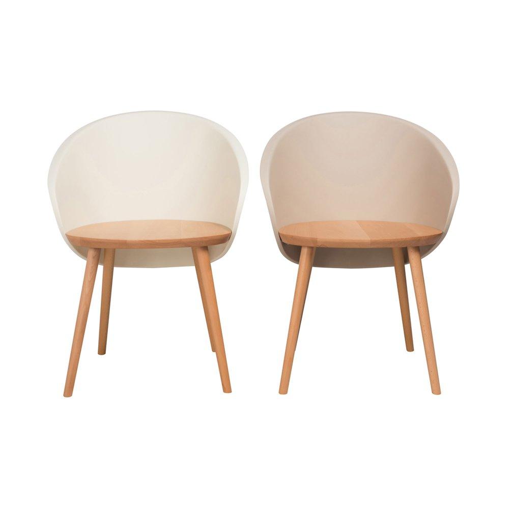 et 2 coque de chaises beige naturel SHELLMaison Lot et nm8wOPyvN0