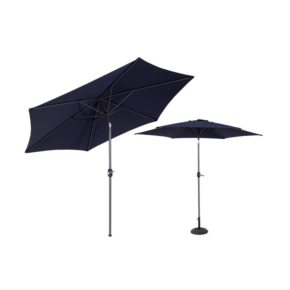 Parasol - Parasol inclinable 270 cm noir avec mât en aluminium photo 1