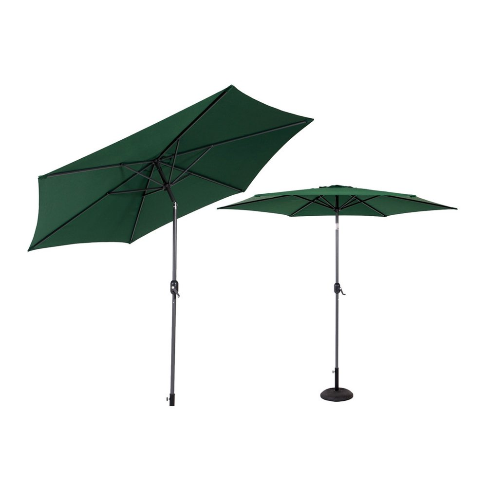 Parasol - Parasol inclinable 270 cm vert avec pied en aluminium photo 1