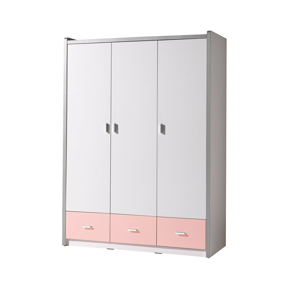 Armoire - Armoire 3 portes 140,5x60x202 cm rose - ASSIA photo 1