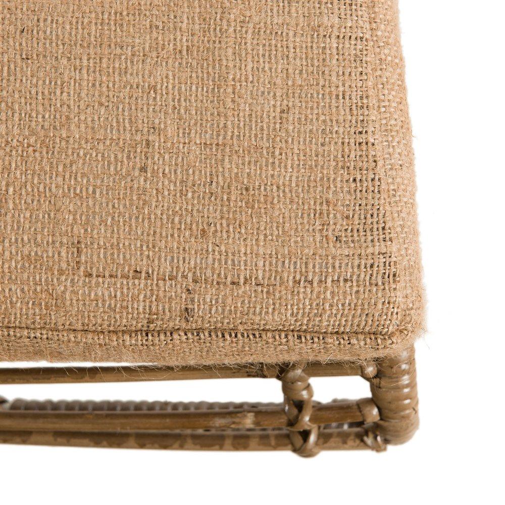 Cache Pied De Sapin Rotin fauteuil lounge en rotin naturel et métal blanc - manille