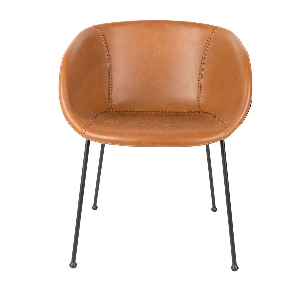 56 en cuir de camel 5x55x77 chaises FESTON Lot cm 2 CdxBoWre