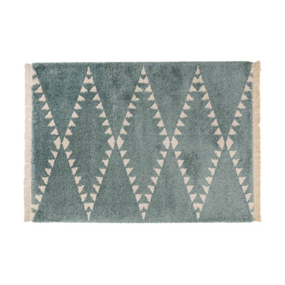 Tapis - Tapis 120x170 cm design losanges bleu - JOLIA photo 1