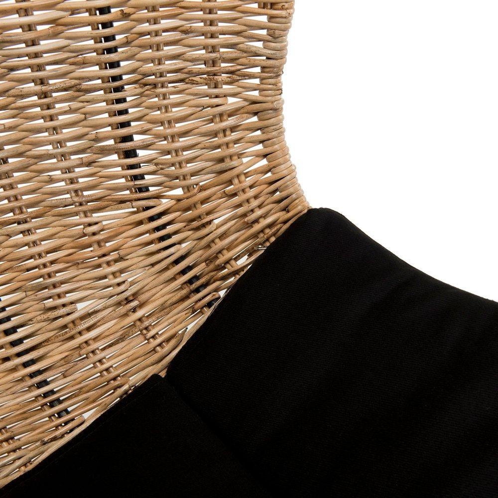 Cache Pied De Sapin Rotin fauteuil 86x76x101 cm en rotin et métal - camy | maison et