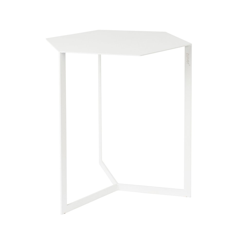 Table basse - Table d'appoint 38x45x45 cm en métal blanc - MATRIX photo 1