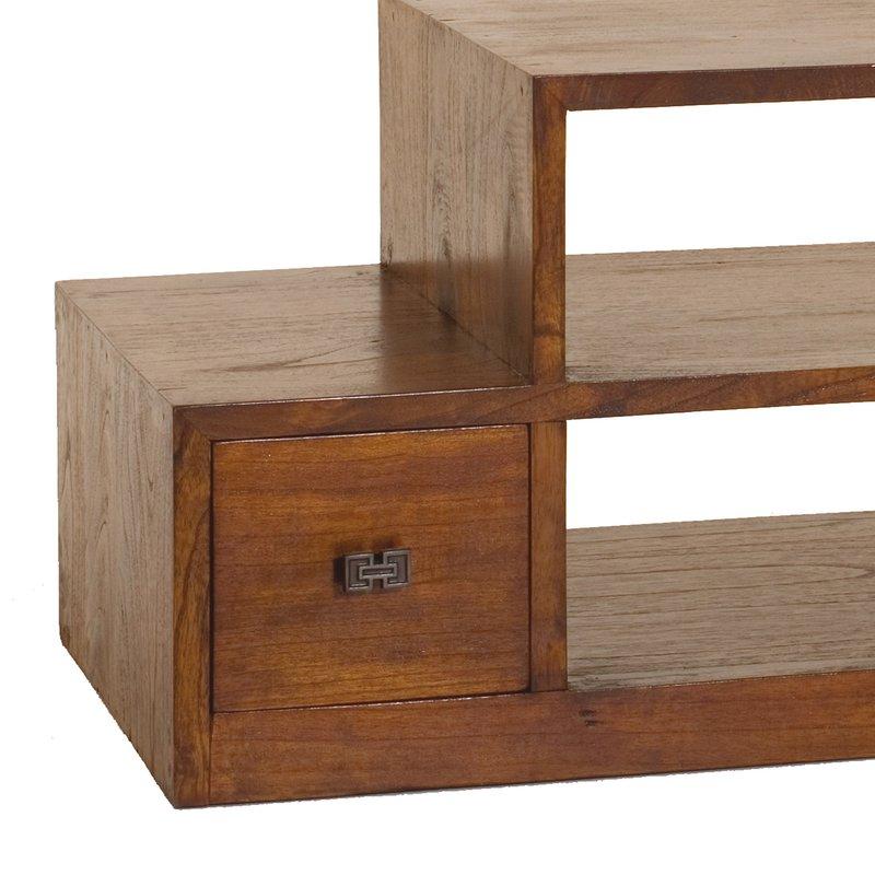 meuble tv escalier 6 tiroirs en bois votara maison et. Black Bedroom Furniture Sets. Home Design Ideas