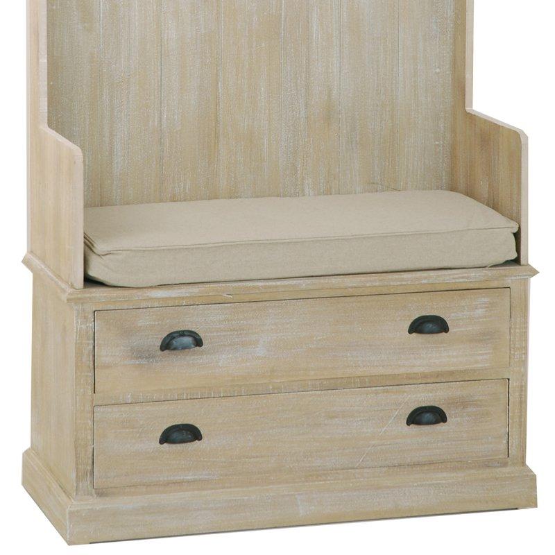 meuble porte manteau 2 tiroirs paulownia maison et styles. Black Bedroom Furniture Sets. Home Design Ideas