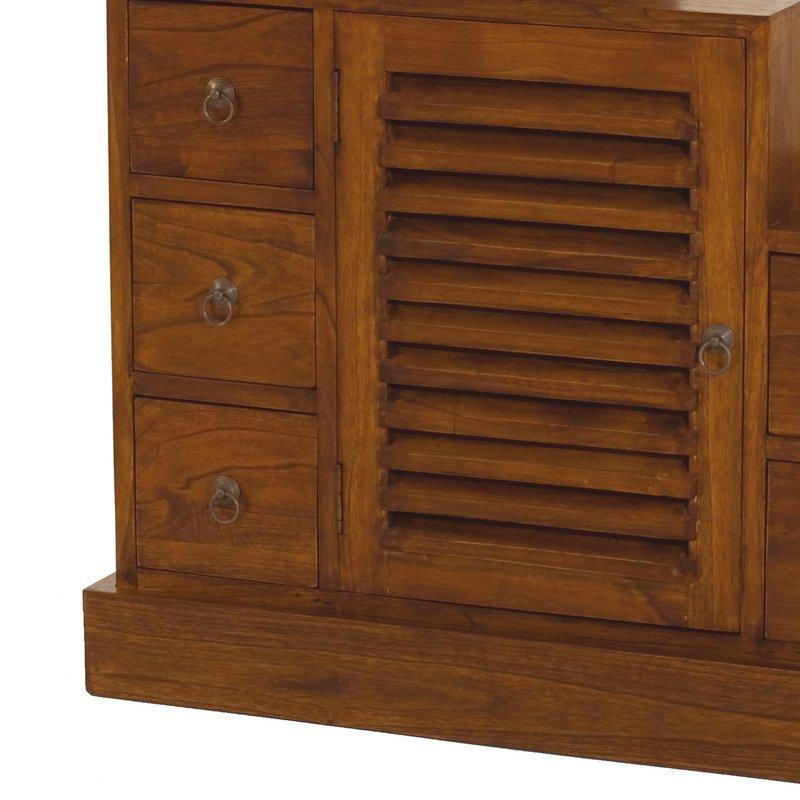 meuble escalier 1 porte et 7 tiroirs en bois votara. Black Bedroom Furniture Sets. Home Design Ideas