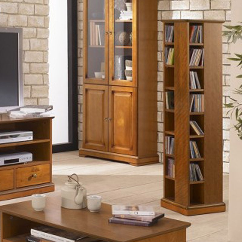 tour range cd dvd merisier 135 cm maison et styles. Black Bedroom Furniture Sets. Home Design Ideas