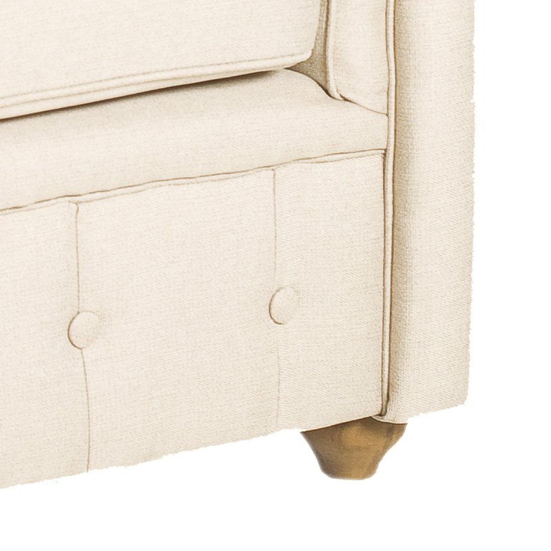 Chesterfield tissu couleur naturelle maison et styles - Fauteuil chesterfield tissu ...