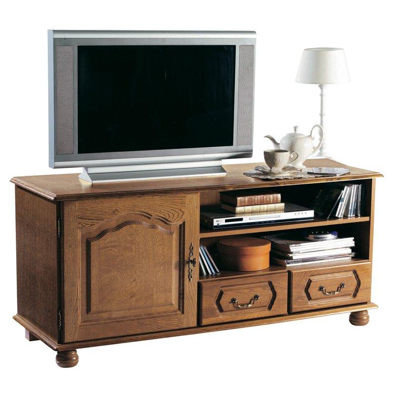 Meuble tv bas 1 porte 2 tiroirs maison et styles for Meuble tv promotion