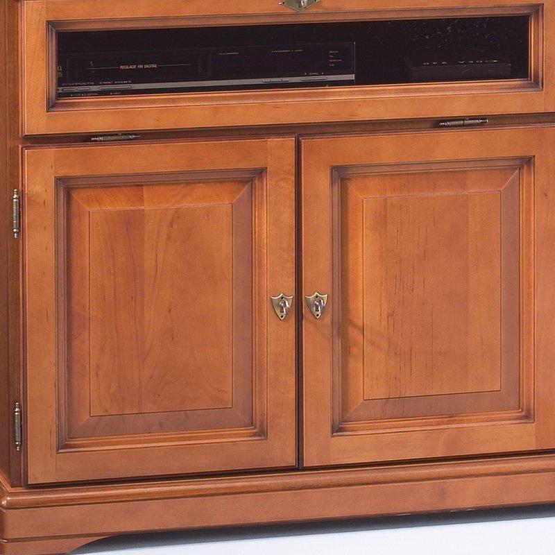 Meuble tv hifi 3 portes merisier maison et styles for Meuble tv hifi