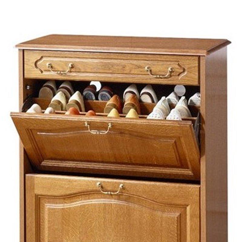 meuble chaussures 2 abattants 1 tiroir quimper ch ne maison et styles. Black Bedroom Furniture Sets. Home Design Ideas