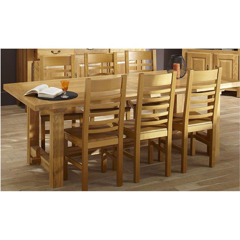 Table Rectangulaire Ch Ne Clair Maison Et Styles