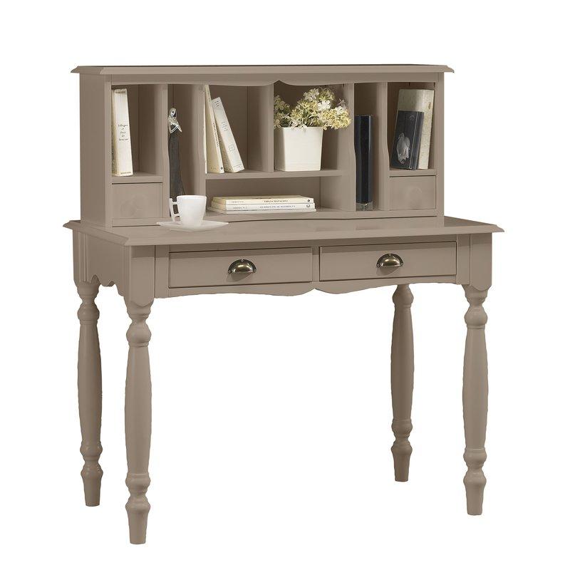 Bureau secr taire taupe charme maison et styles for Bureau secretaire meuble