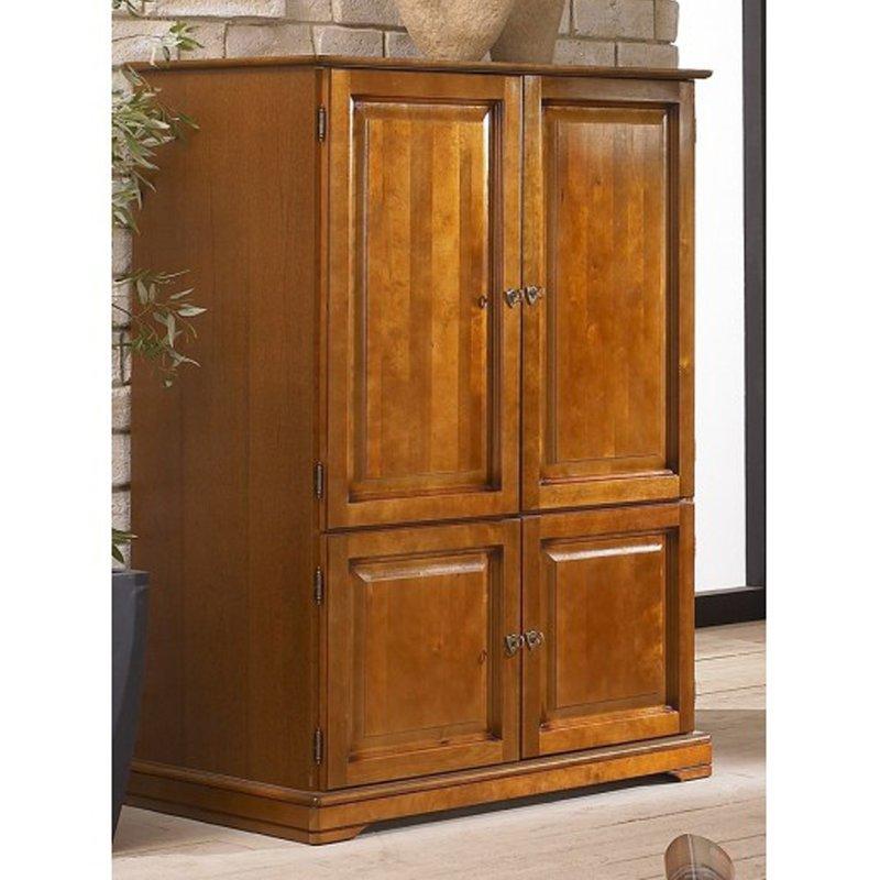 armoire informatique louis philippe ferm e maison et styles. Black Bedroom Furniture Sets. Home Design Ideas