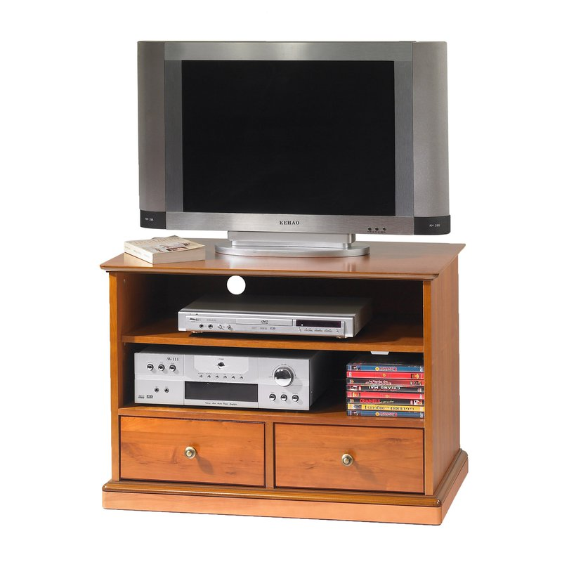 meuble tv hifi merisier louis philippe sur roulettes maison et styles. Black Bedroom Furniture Sets. Home Design Ideas