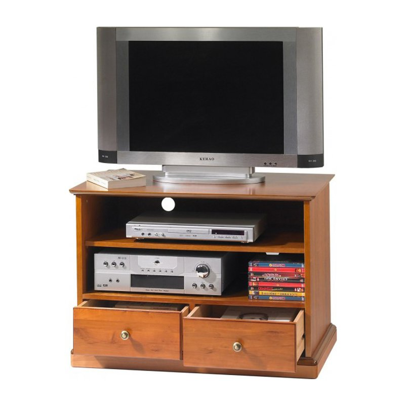 meuble tv hifi merisier louis philippe sur roulettes. Black Bedroom Furniture Sets. Home Design Ideas
