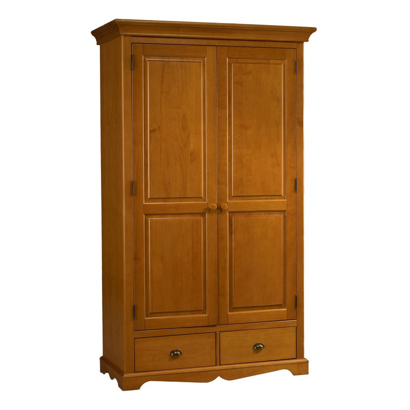 armoire penderie pin miel 2 portes de style anglais maison et styles. Black Bedroom Furniture Sets. Home Design Ideas