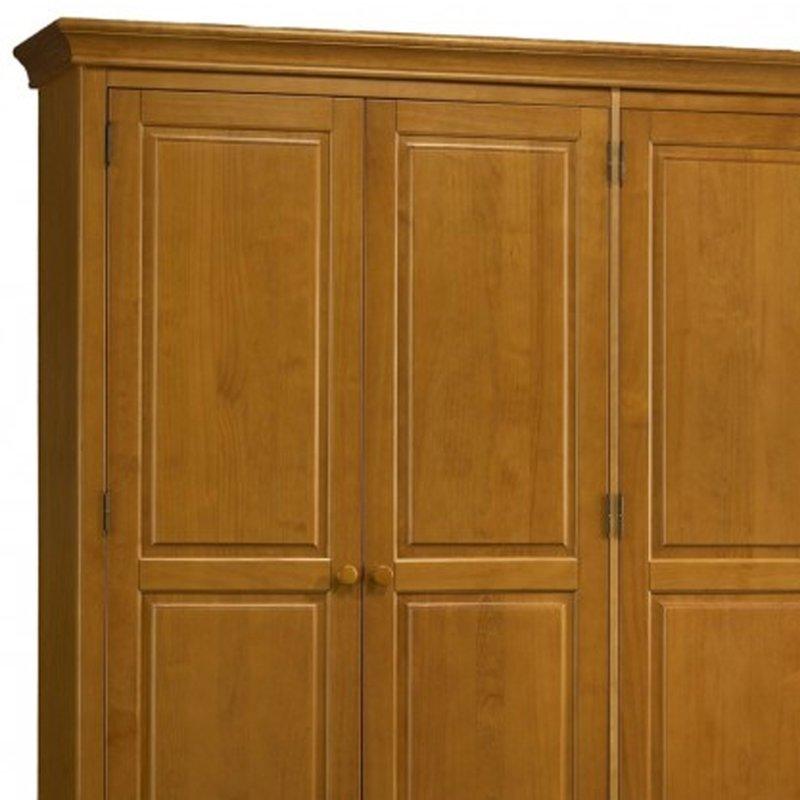 grande armoire penderie pin miel de style anglais maison et styles. Black Bedroom Furniture Sets. Home Design Ideas