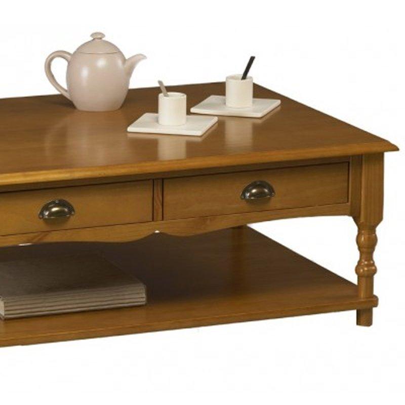 table basse pin miel rectangle de style anglais maison et styles. Black Bedroom Furniture Sets. Home Design Ideas