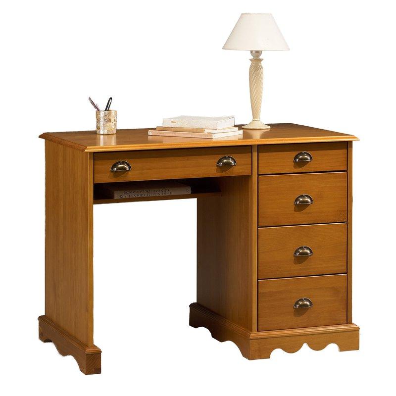 Bureau junior pin miel de style anglais maison et styles for Bureau junior