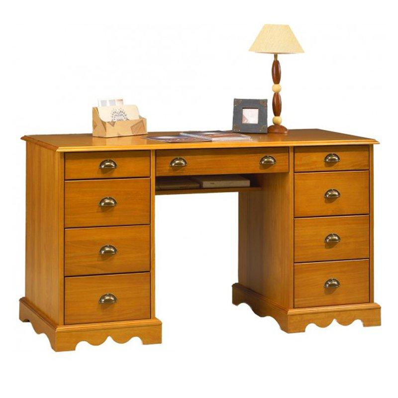 bureau du notaire pin massif miel de style anglais. Black Bedroom Furniture Sets. Home Design Ideas