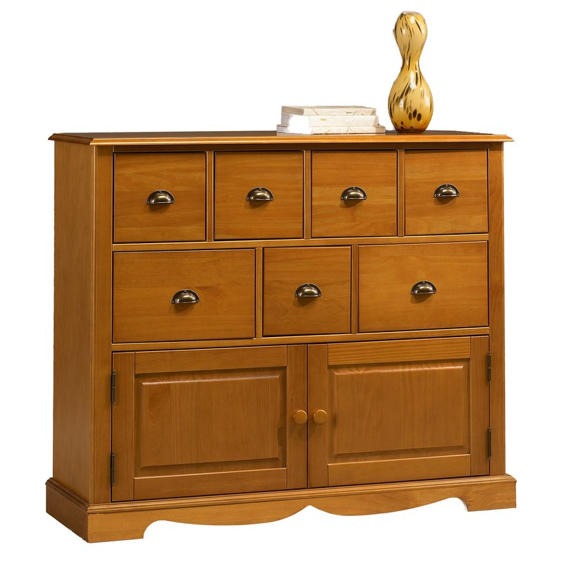 Buffet commode pin massif miel de style anglais maison for Maison de style anglais