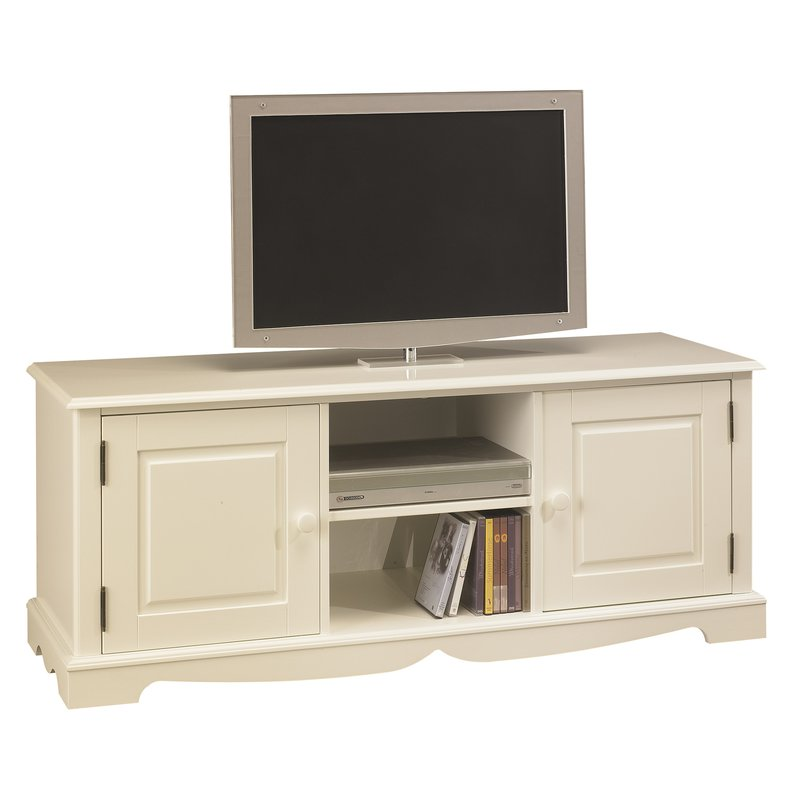 meuble tv hifi blanc charme de style anglais maison et styles. Black Bedroom Furniture Sets. Home Design Ideas