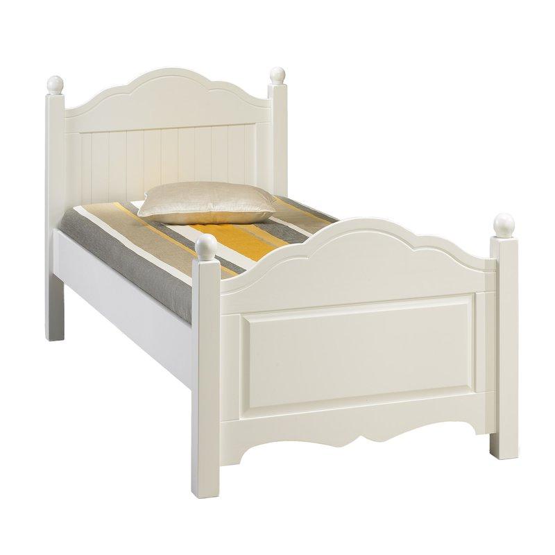 lit blanc 1 place 90 x 190 cm maison et styles. Black Bedroom Furniture Sets. Home Design Ideas