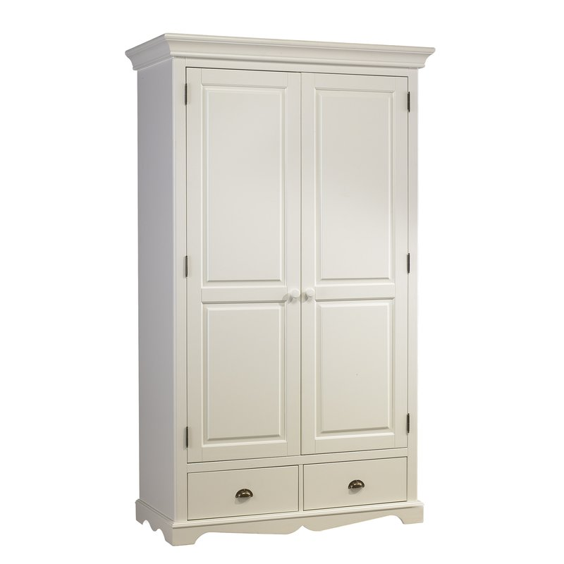 armoire penderie blanche 2 portes de style anglais. Black Bedroom Furniture Sets. Home Design Ideas