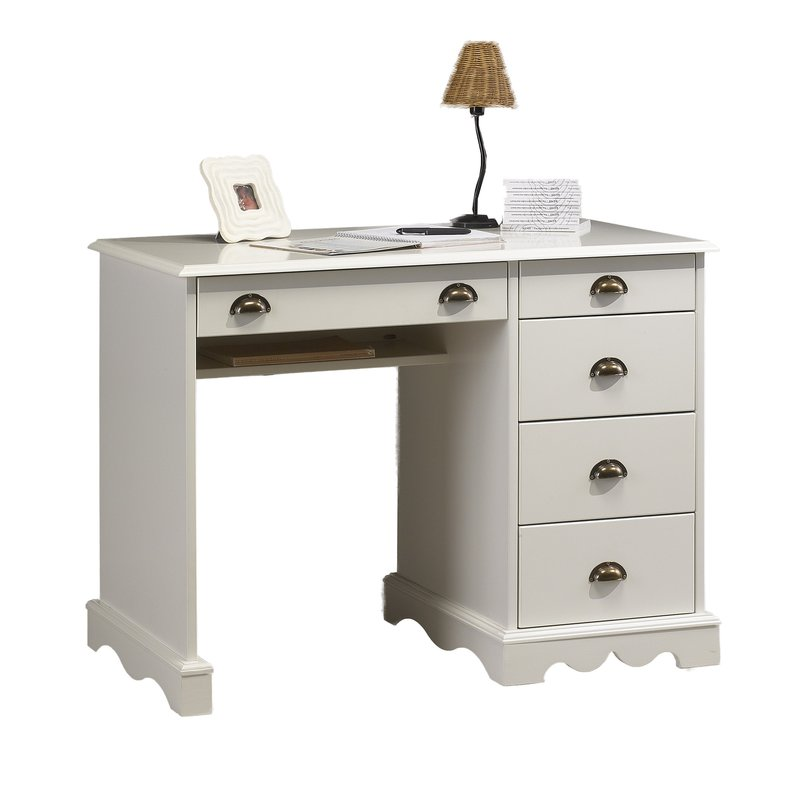 bureau blanc demi ministre de style anglais maison et styles. Black Bedroom Furniture Sets. Home Design Ideas