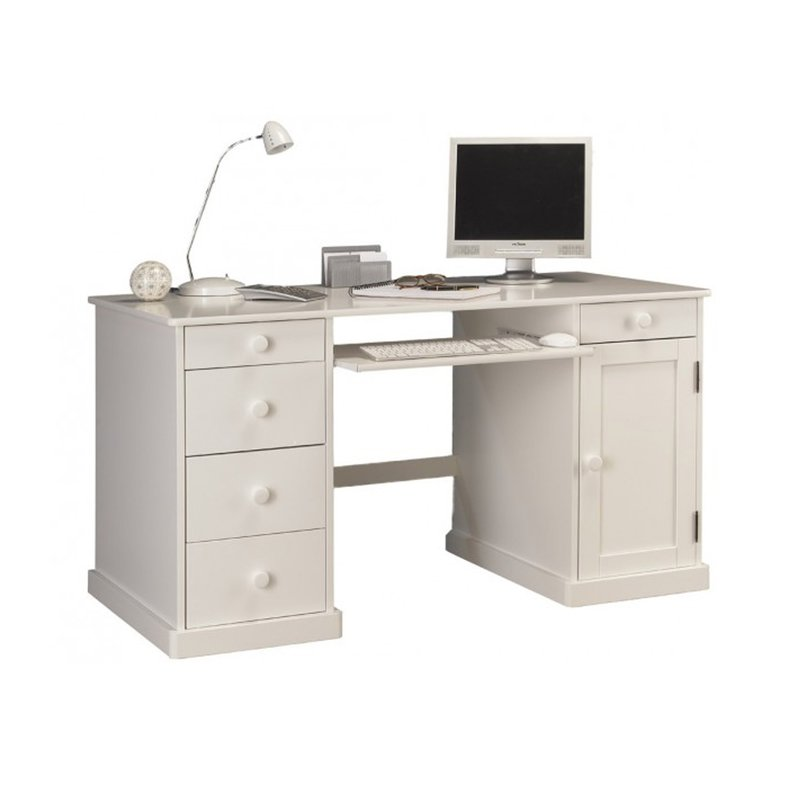 bureau informatique blanc de style anglais maison et styles. Black Bedroom Furniture Sets. Home Design Ideas