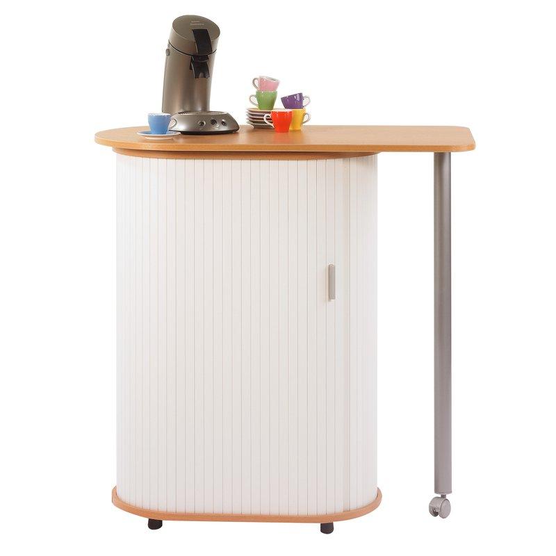table plateau pivotant hetre blanc lunch maison et styles. Black Bedroom Furniture Sets. Home Design Ideas