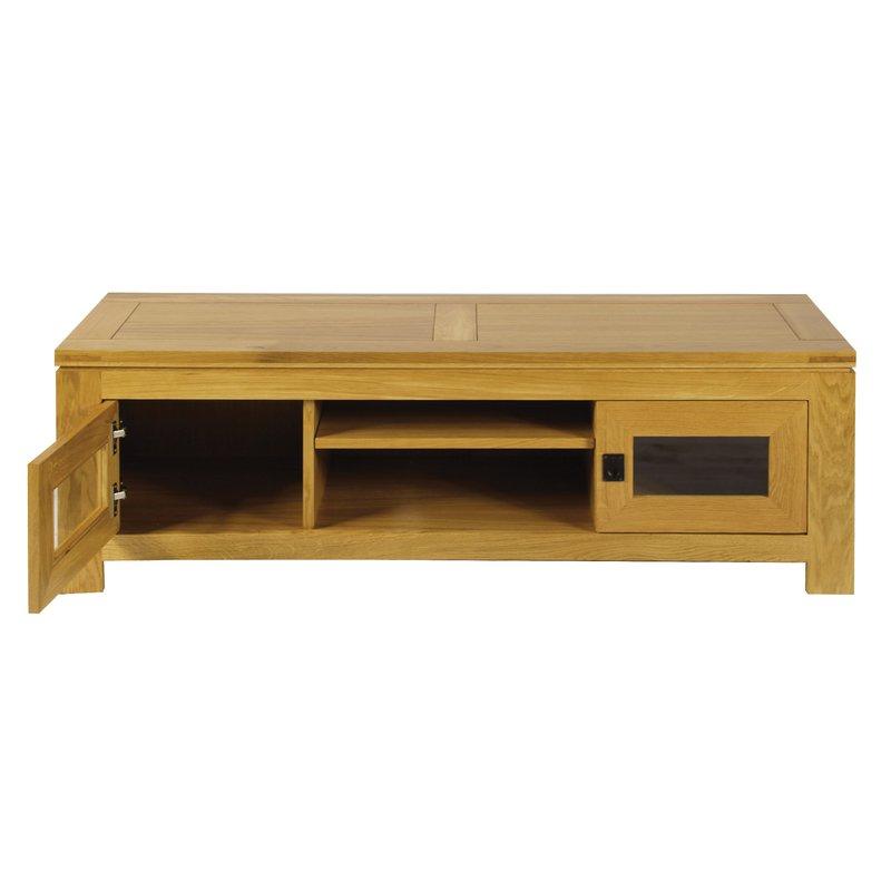 meuble tv bas chene clair maison et styles. Black Bedroom Furniture Sets. Home Design Ideas