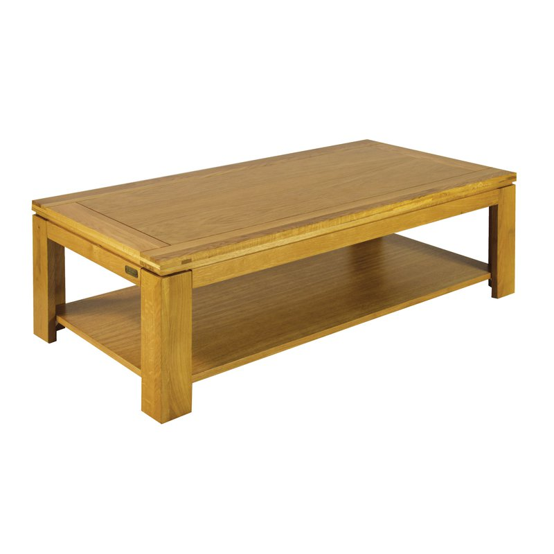 Table basse rectangulaire chene clair maison et styles - Table basse en chene clair ...